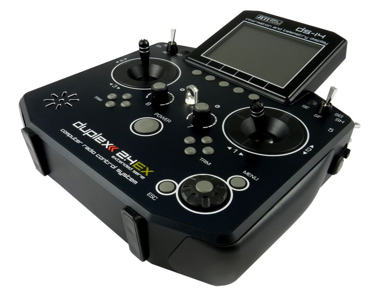 Jeti Hand-Sender DS-14 Mode 2 / 4 (Gas links)