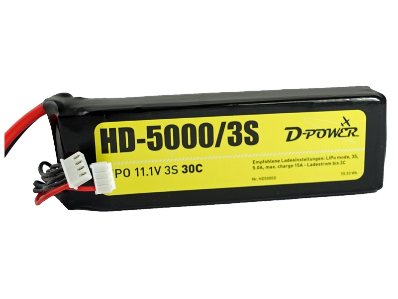 D-Power HD-5000 3S Lipo (11,1V) 30C - XT-60 Stecker
