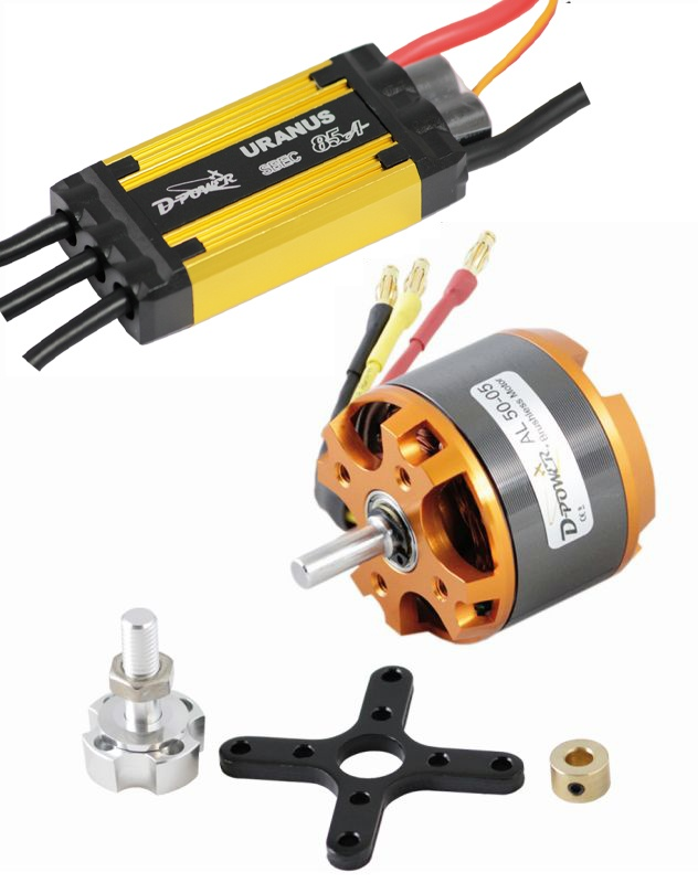 D-Power Brushless Set AL 50-05 & 85A URANUS Regler
